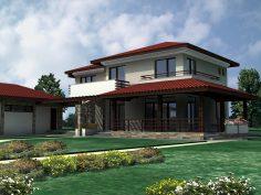 Индивидуална жилищна сграда в композиция с допълващо застрояване в с.Тодорово, Плевенско.