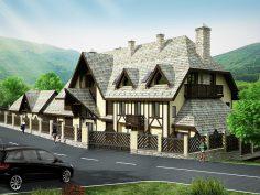 """Къща за гости """"Бавария"""", м.Тремошница, общ.Сандански – – обща РЗП 870 кв. м."""