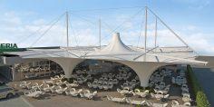 Покритие на открита тераса към ресторант, Феризай, Косово